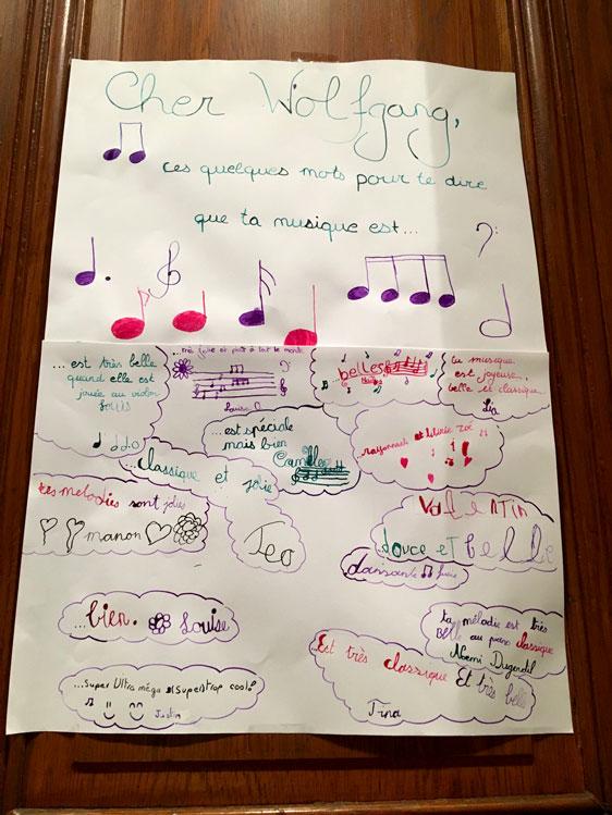 Foto Kinderbrief an Mozart