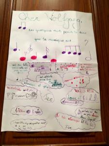 Photo La lettre des enfants à Mozart