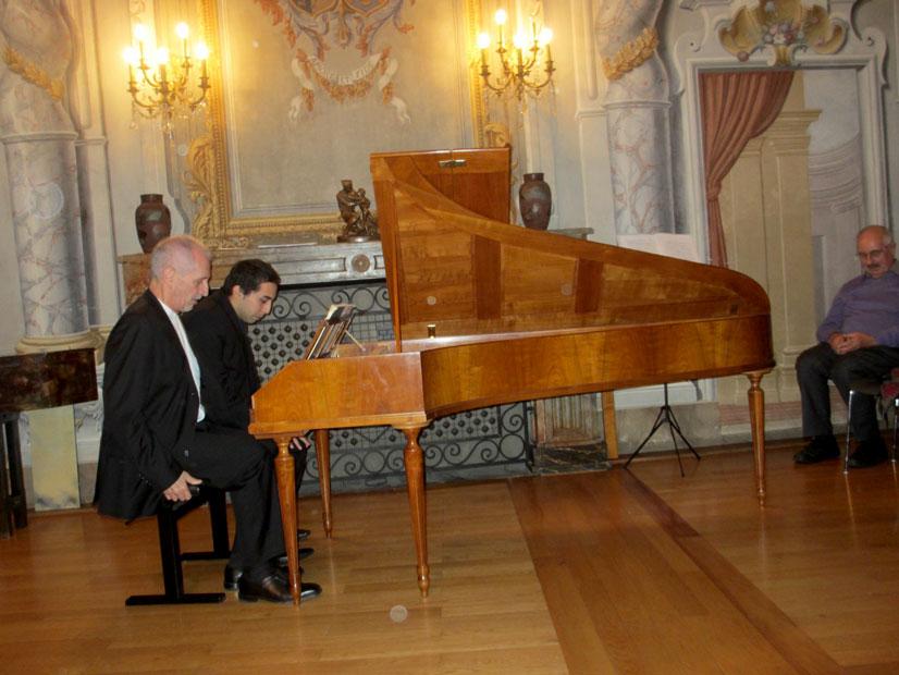 Photo Michel Kiener und Quentin Tièche jouent à quatre mains