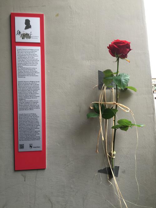 Photo La plaque commémorative est située à l'angle Münstergasse/Hotelgasse