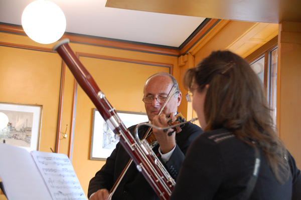 "Photo ""Tafelmusik"" avec Patrícia Costa, Basson et Matthias Steiner, Violon"