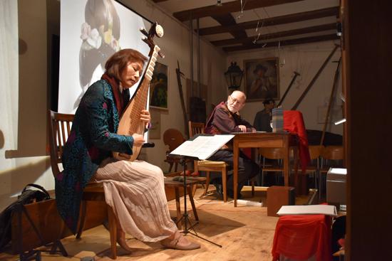 Foto Mozart und die schöne Frau Pipa, mit Ueli Ganz und Jing Yang, Photo: Patrick Furrer