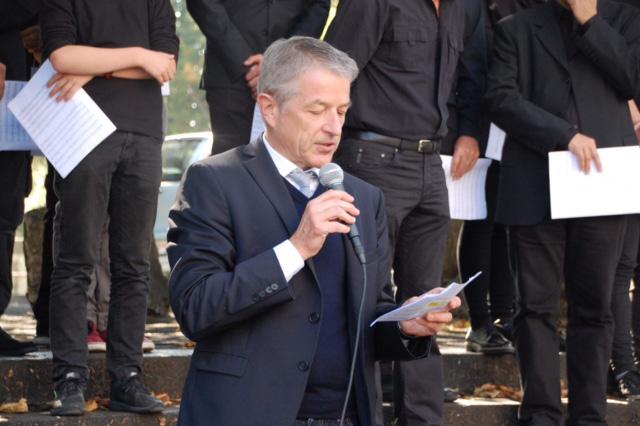 Foto Georg Berger, Direktor BBZ und Präsident Bildungsstadt Olten.Bifang bei seiner Begrüssungsrede