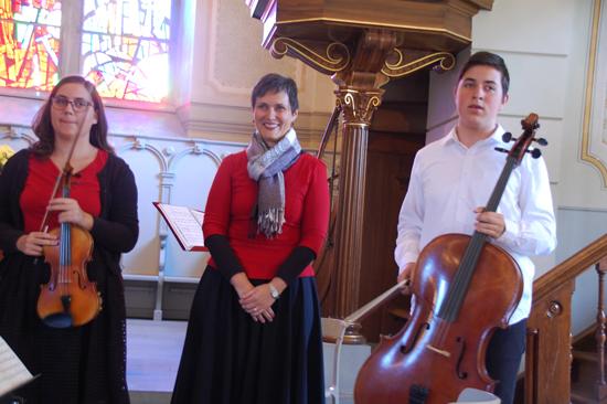 Foto Die «musizierende Familie» - Katja Kristovic Krizic, Mezzosopran, Jelena Krizic, Violine, Hvroje Krizic, Cello...